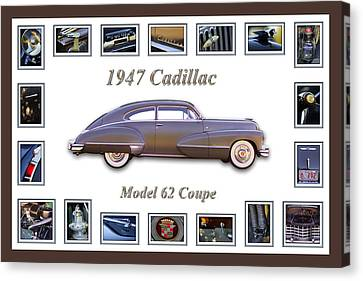 1947 Cadillac Model 62 Coupe Art Canvas Print by Jill Reger