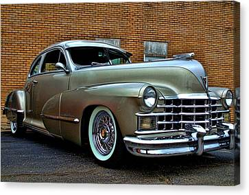 Canvas Print featuring the photograph 1947 Cadillac Street Rod by Tim McCullough
