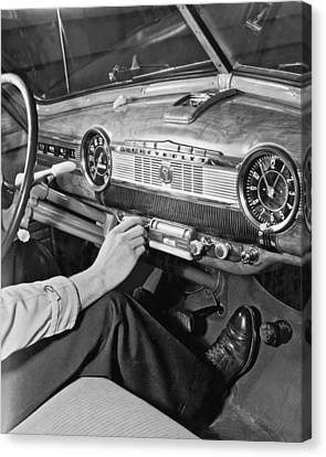 Speedometer Canvas Print - 1947 Chevrolet Dashboard by E. Earl Curtis