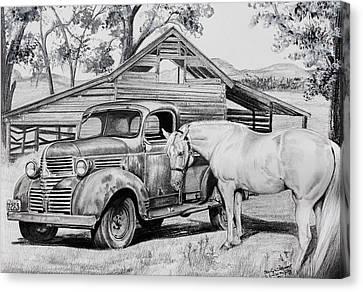 1947 Dodge Pick Up And Codi Canvas Print