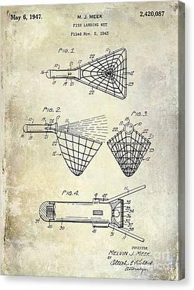 1947 Fishing Net Patent  Canvas Print