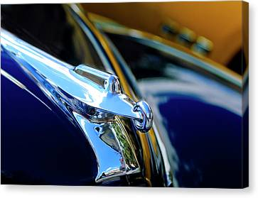 1947 Packard Hood Ornament 4 Canvas Print by Jill Reger