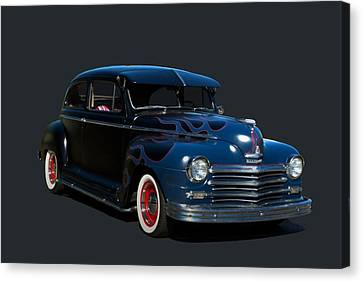 Canvas Print featuring the photograph 1947 Plymouth by Tim McCullough