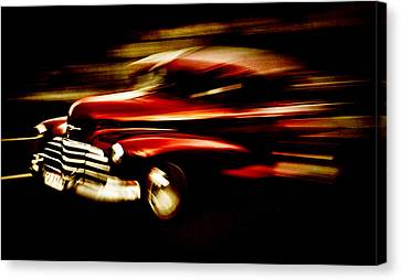 1947 Red Chevrolet Canvas Print by Phil 'motography' Clark