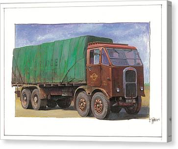 1947 Scammell R8 Canvas Print by Mike  Jeffries