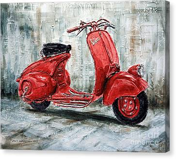 1947 Vespa 98 Scooter Canvas Print by Joey Agbayani