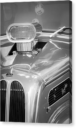 1948 Anglia Engine -522bw Canvas Print