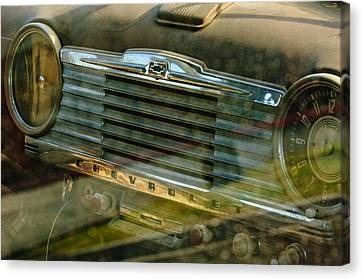 1948 Chevrolet Dashboard  Canvas Print by Jill Reger