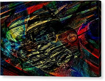 1948 Chevy Abstract Art Canvas Print by Lesa Fine