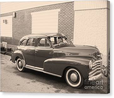 Transportion Canvas Print - 1948 Chevy by Eric  Schiabor