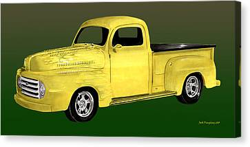 1948 Custom Ford Pick Up Canvas Print by Jack Pumphrey