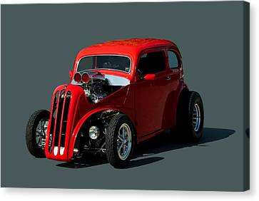 British Hot Rod Canvas Print - 1948 English Ford Anglia Dragster by Tim McCullough