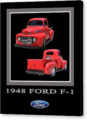 1948 Ford F 1 Poster Canvas Print by Jack Pumphrey