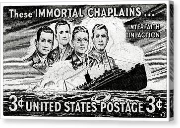 1948 Immortal Chaplains Stamp Canvas Print by Historic Image