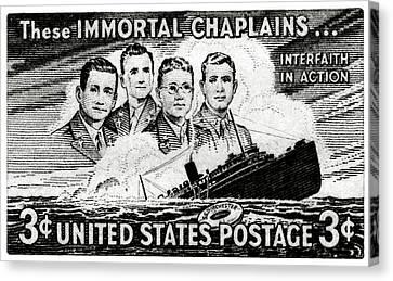 1948 Immortal Chaplains Stamp Canvas Print