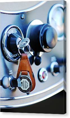 1948 Mg Tc Key Ring Canvas Print by Jill Reger