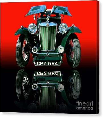 1948 Mg Tc Roadster Canvas Print by Jim Carrell