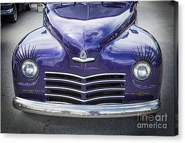 1948 Plymouth Classic Car Front End In Color Of Purple 3385.02 Canvas Print by M K  Miller