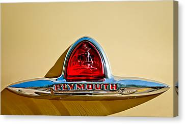 1948 Plymouth Deluxe Emblem Canvas Print by Jill Reger