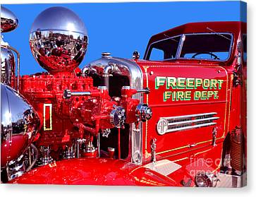 1949 Ahrens Fox Piston Pumper Fire Truck Canvas Print