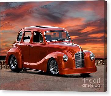 British Hot Rod Canvas Print - 1949 Austin A40 Devon Pro Street by Dave Koontz