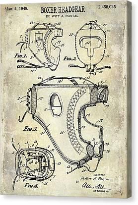 Boxer Canvas Print - 1949 Boxer Headgear Patent Drawing  by Jon Neidert