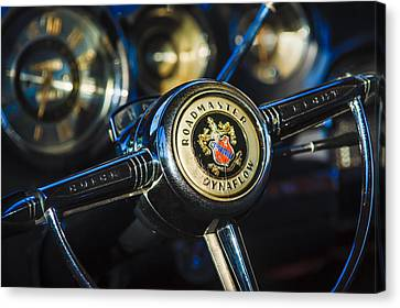 1949 Buick Roadmaster Riviera Coupe Steering Wheel Emblem Canvas Print by Jill Reger