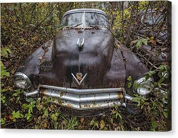 1949 Cadillac Canvas Print by Debra and Dave Vanderlaan