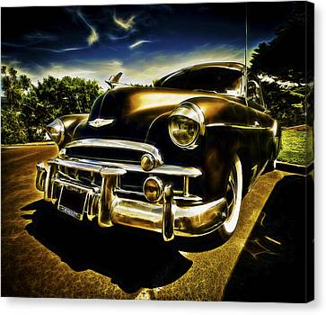 1949 Chevrolet Deluxe Coupe Canvas Print