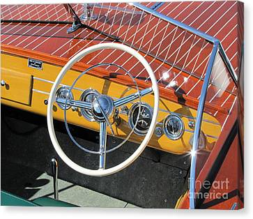 1949 Chris Craft Sportsman Canvas Print by Neil Zimmerman