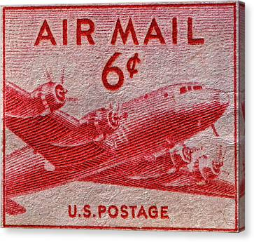1949 Dc-4 Skymaster Air Mail Stamp Canvas Print by Bill Owen