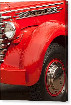 1949 Diamond T Truck Front End Canvas Print by Jill Reger
