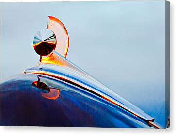 1949 Ford Hood Ornament 2 Canvas Print by Jill Reger