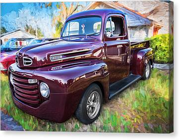 1949 Ford Pick Up Truck F1 Painted  Canvas Print