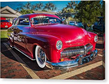 1949 Merc Canvas Print - 1949 Mercury Club Coupe Painted   by Rich Franco