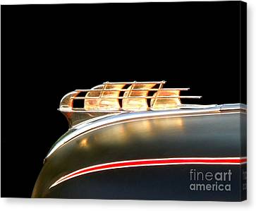 1949 Plymouth Schooner Hood Ornament Canvas Print by Renee Trenholm