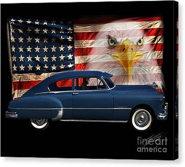 Canvas Print featuring the photograph 1949 Pontiac Tribute Roger by Peter Piatt