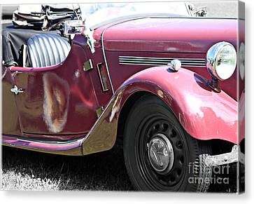 1949 Singer Roadster  Canvas Print by Steven Digman