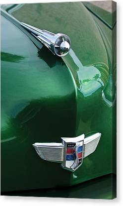 1949 Studebaker Champion Hood Ornament Canvas Print