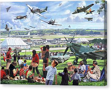 1950 Airshow Canvas Print by MGL Meiklejohn Graphics Licensing