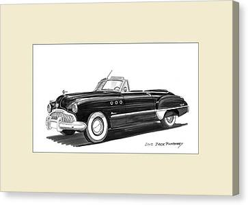 1950 Buick Special Convertible Canvas Print by Jack Pumphrey