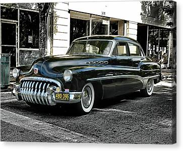 Canvas Print featuring the photograph 1950 Buick by Victor Montgomery