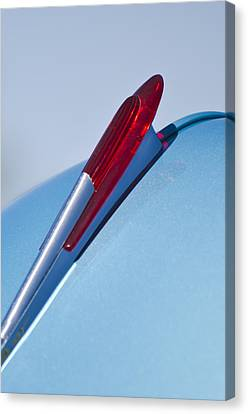 1950 Chevrolet Hood Ornament Canvas Print by Jill Reger