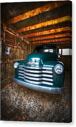 1950 Chevy Truck Canvas Print by Debra and Dave Vanderlaan
