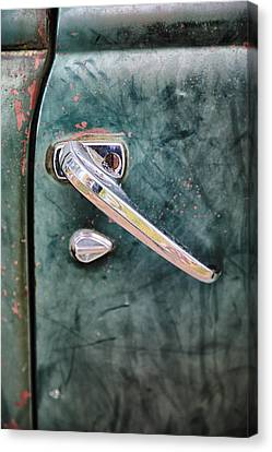 1950 Classic Chevy Pickup Door Handle Canvas Print by Adam Romanowicz