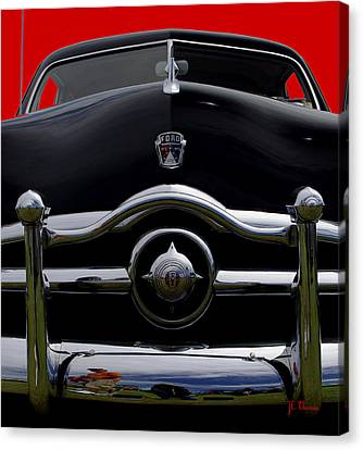 1950 Ford Automobile Canvas Print by James C Thomas