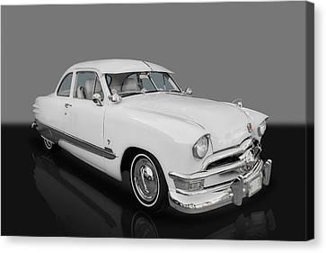 1950 Ford Custom V8 Canvas Print by Frank J Benz