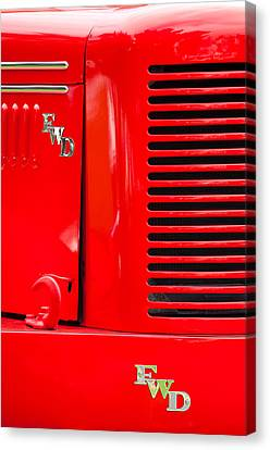 1950 Four Wheel Drive Pumper Fire Truck Emblems Canvas Print by Jill Reger