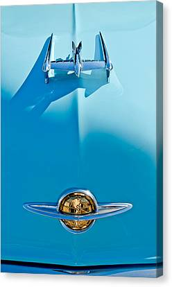 1950 Oldsmobile Hood Ornament Canvas Print by Jill Reger