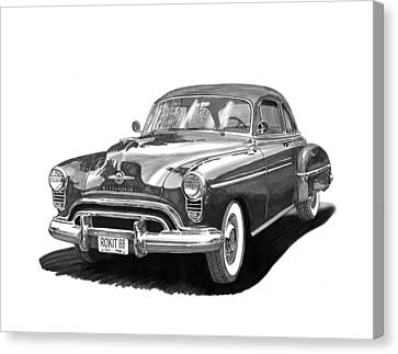 Oldsmobile Rocket 88 Canvas Print by Jack Pumphrey